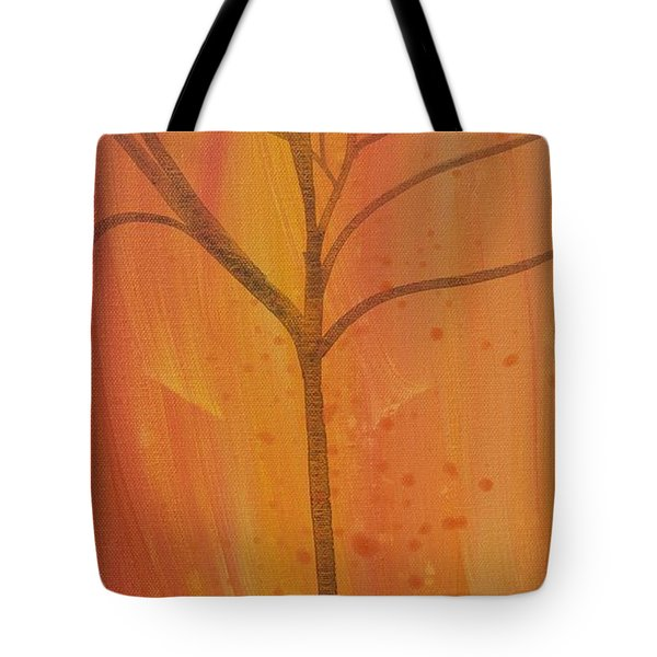 Tree Of Three Coral Tote Bag by Robin Maria Pedrero