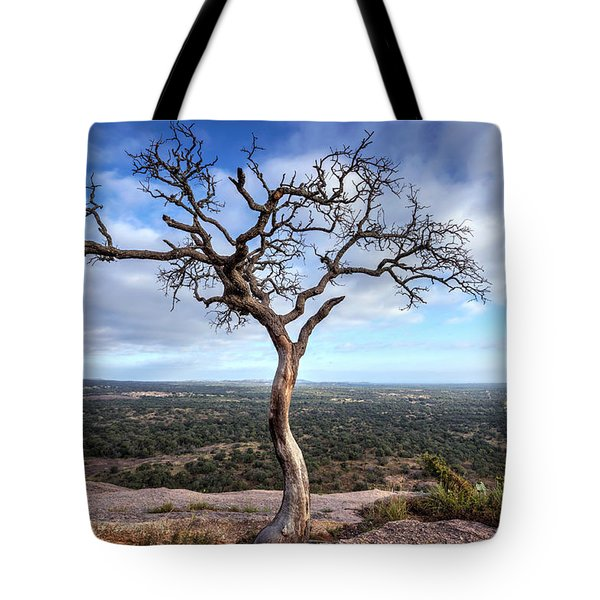 Tree On Enchanted Rock Tote Bag