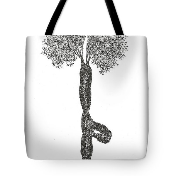 Tree Pose Tote Bag
