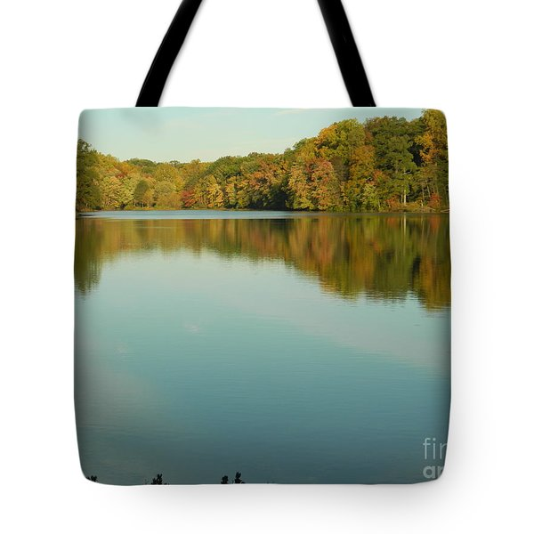 Tote Bag featuring the photograph Tree Reflections by Emmy Marie Vickers