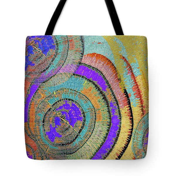 Tree Ring Abstract 3 Tote Bag by Tony Rubino