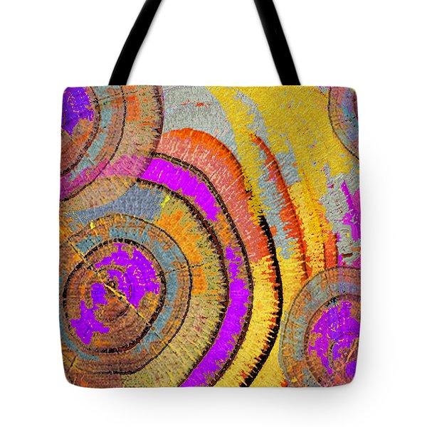 Tree Ring Abstract Horizontal Tote Bag by Tony Rubino