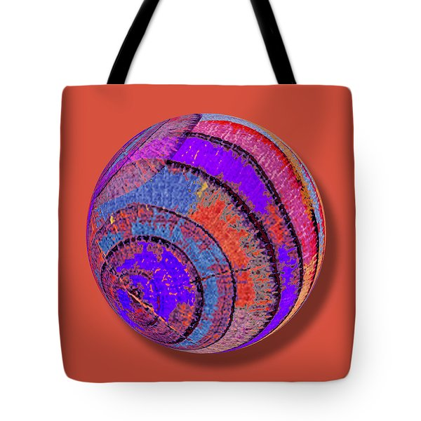 Tree Ring Abstract Orb Tote Bag by Tony Rubino