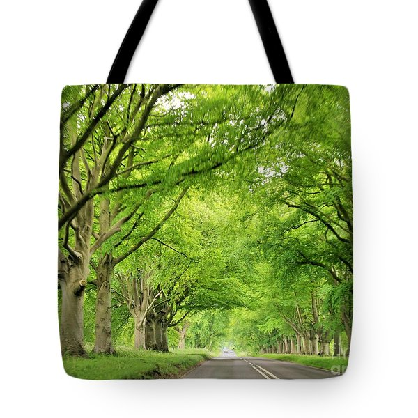 Tree Avenue Tote Bag