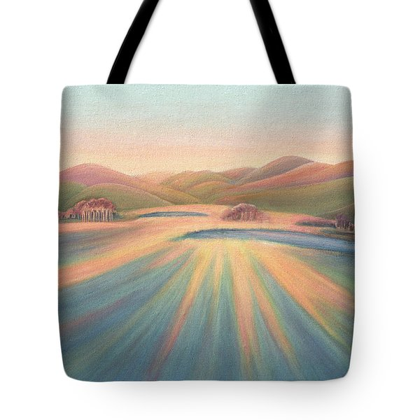 Tree Shadows Sunset Tasmania Tote Bag