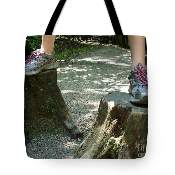 Tree Stump Stilts Tote Bag