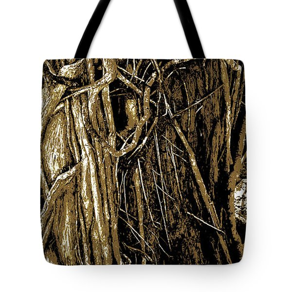 Tree Textures Tote Bag by Sally Simon