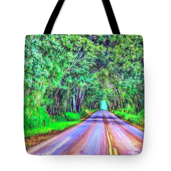Tree Tunnel Kauai Tote Bag