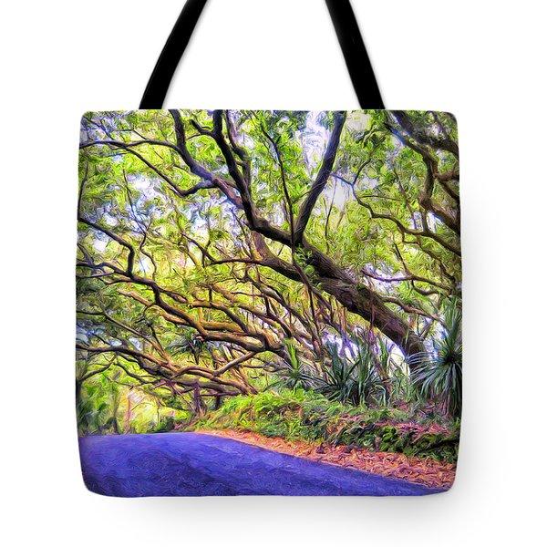Tree Tunnel On The Big Island Tote Bag