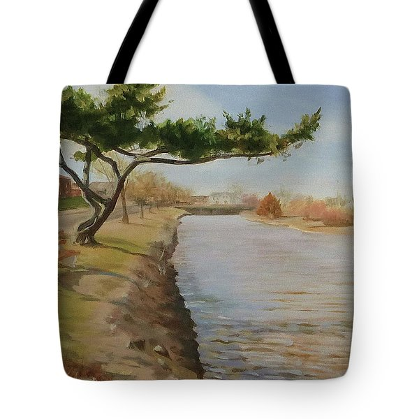 Tree With Lake Tote Bag