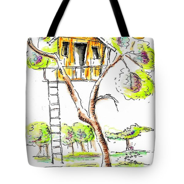 Treehouse Tote Bag by Jason Nicholas