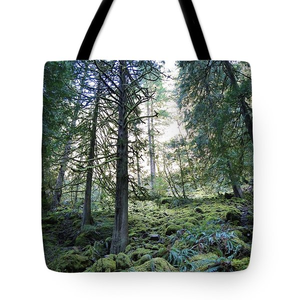 Tote Bag featuring the photograph Treequility by Athena Mckinzie