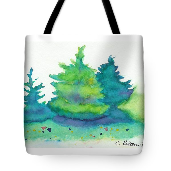 Trees 2 Tote Bag by C Sitton