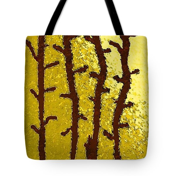 Trees - A Tribute To Vivian Anderson Tote Bag by Lenore Senior