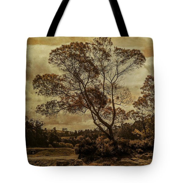 Trees And Hot Sand Tote Bag