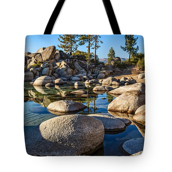 Trees And Rocks Tote Bag