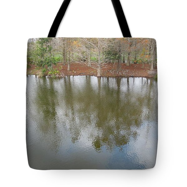 Tote Bag featuring the photograph Trees And Water by Ron Davidson