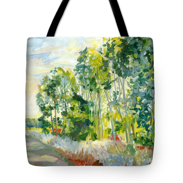 Trees By A Road Tote Bag
