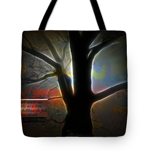 Trees - Featured In 'comfortable Art' Group Tote Bag by EricaMaxine  Price