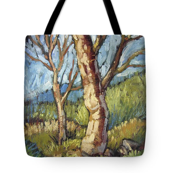 Trees In Spring Tote Bag