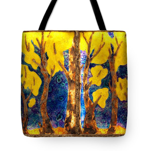 Trees Inside A Window Tote Bag