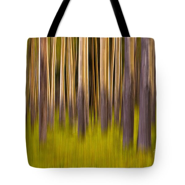 Tote Bag featuring the digital art Trees by Jerry Fornarotto