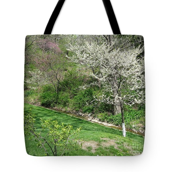 Trees Of Early Spring Tote Bag