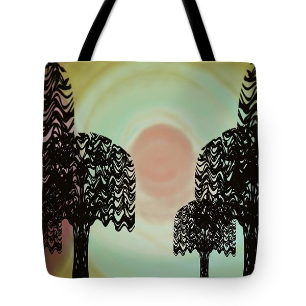 Trees Of Light Tote Bag
