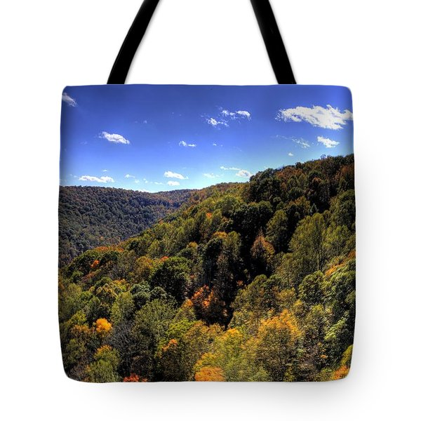 Trees Over Rolling Hills Tote Bag