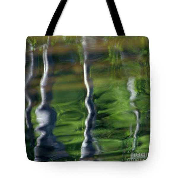 Trees Reflections On The River Tote Bag by Heiko Koehrer-Wagner