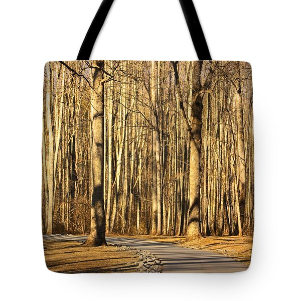 Trees Shadows Tote Bag