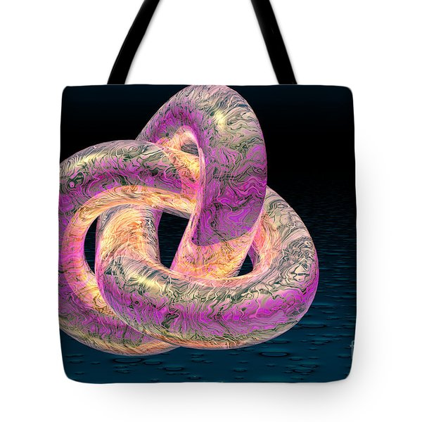 Trefoil Knot Tote Bag by Carol and Mike Werner