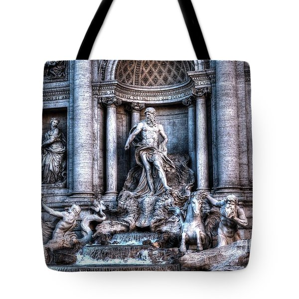 Tote Bag featuring the photograph Trevi Fountain by Joe  Ng