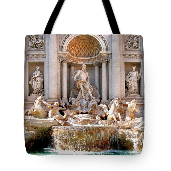 3 Coins Trevi. Rome Tote Bag by Jennie Breeze