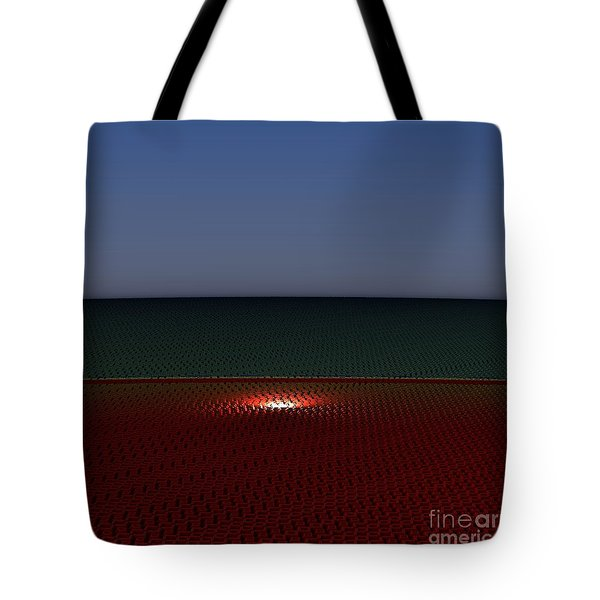 Tri Abstract Tote Bag by Peter R Nicholls