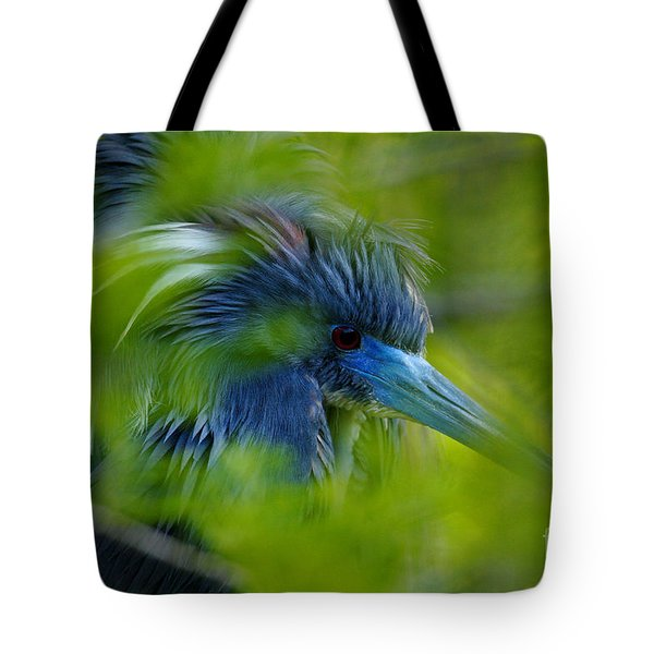 Tote Bag featuring the photograph Tri-colored Heron Concealed    by John F Tsumas