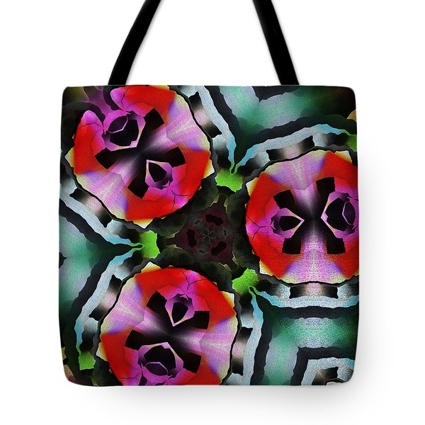 Tote Bag featuring the digital art Triad by David Lane