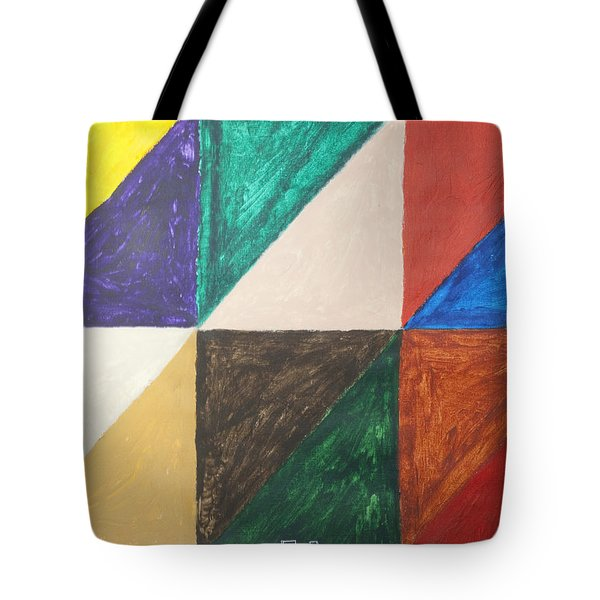 Triangles Tote Bag by Stormm Bradshaw
