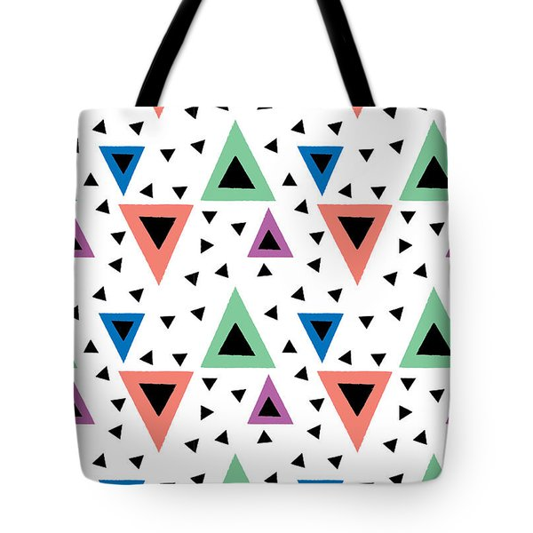 Triangular Dance Repeat Print Tote Bag