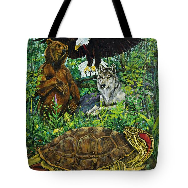 Tribal Gathering Tote Bag by Derrick Higgins