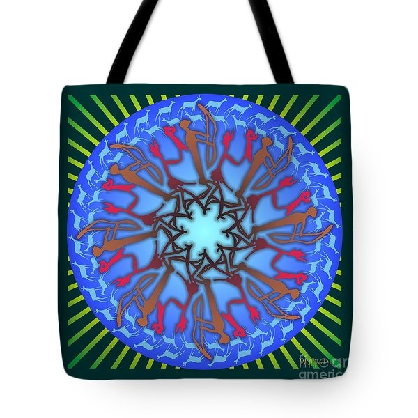 Tribal Hunt And Blessing Tote Bag