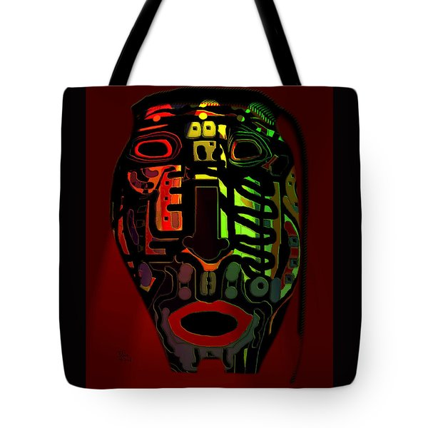 Tribal Mask Tote Bag by Natalie Holland