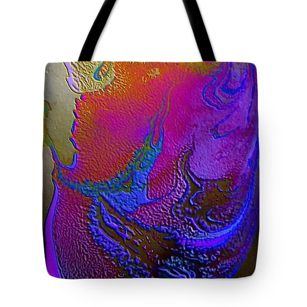 Tote Bag featuring the painting Tribal Princess by Mike Breau