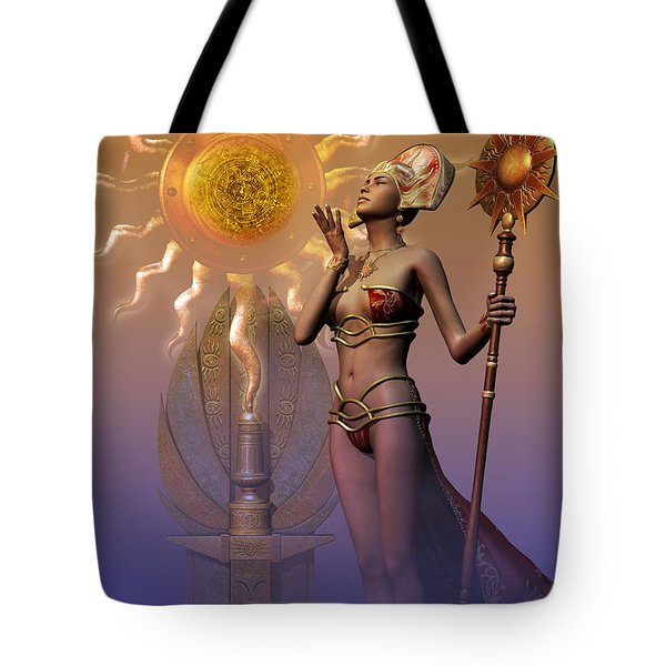 Tote Bag featuring the digital art Tribal Time Keeper by Shadowlea Is