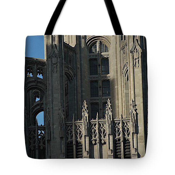 Tribune Tower Tote Bag by Joseph Yarbrough