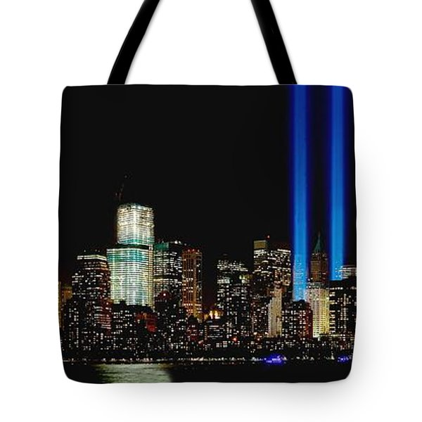 Tribute In Light Memorial Tote Bag by Nick Zelinsky