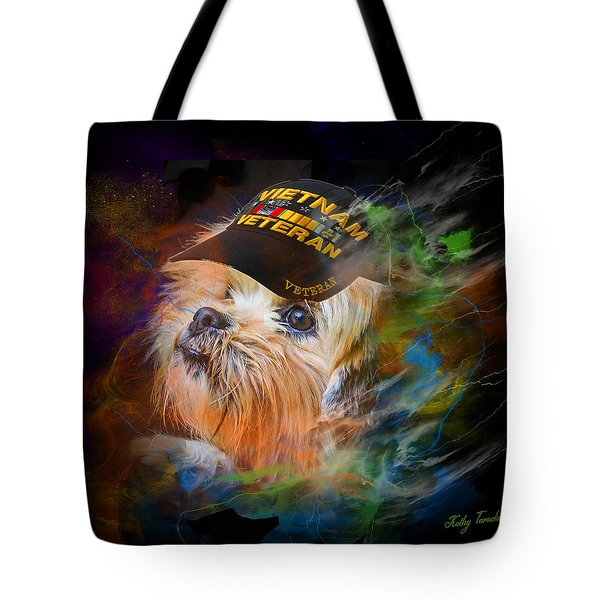 Tribute To Canine Veterans Tote Bag
