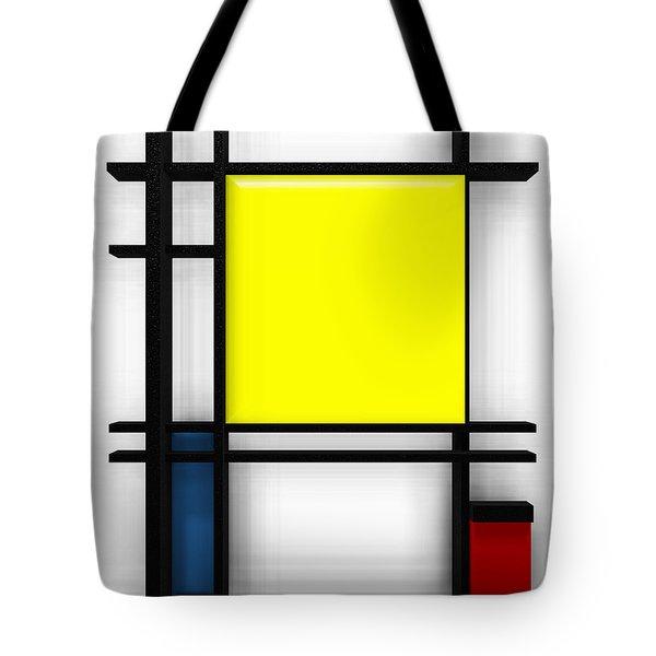 tribute to Mondrian 1 Tote Bag