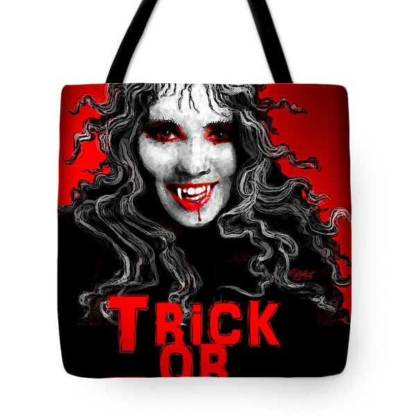 Trick Or Treat Tote Bag by Carol Jacobs