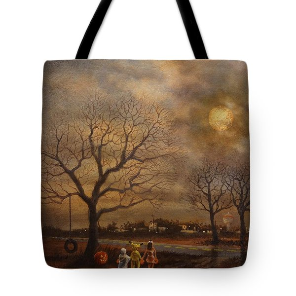 Trick-or-treat Tote Bag by Tom Shropshire